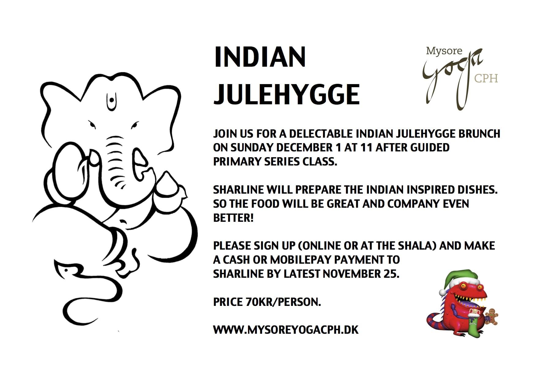 Indian Julehygge - Mysore Yoga CPH - Astanga yoga - Copenhagen - København
